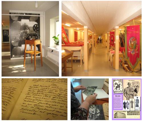 Bild 1 är från Filmarkivets entré. Bild 2 är från Fanmagasinet i Jakobina Gruvstuga (foto, båda bilderna: Ana Durán, 2014). Bild 3 och 4 är från Projekt Digitalis webbsidor. Bild 5 visar första bilden i en av Arkivcentrum i Örebros nätutställningar.