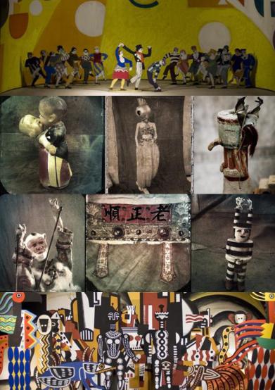 Bildcollage skapat utifrån bilder från Bildmuseets hemsida.